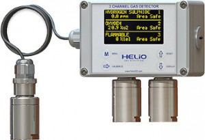 3 channel gas detector